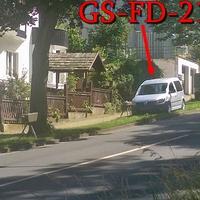 Blitzer auf der Von Garßen Straße, Richtung Astfelder Straße, silberner VW Caddy (GS-FD-214), der externe ESO Einseitensensor steht direkt vor dem Caddy. 50 kmh. Bergabwärts, Richtung Bahnhof.