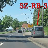 Grauer VW Caddy Maxi (SZ-RB-3114), auf der Willy Brandt Straße, stadtauswärts. 50 kmh. Nach dem City Caree, Richtung Fredenberg auf dem Radweg geparkt. Ist nicht zu übersehen.
