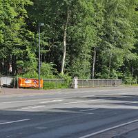 Blitzer auf der B 4 am OA Bad Harzburg, gegenüber Hotel Seela / Einfahrt Campingplatz. In beiden Richtungen, 50 kmh. ESO Anlage, silberner VW T5 dazu (GS-ES-3000), steht in der Einfahrt zum Campingplatz.