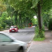 Handlaser auf der Schemmannstraße Richtung Haselkamp vor der Kurve