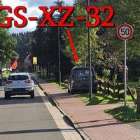 """Blitzer auf der B 498 am OE Altenau aus Oker kommend. 50 kmh. Rechte Seite, grauer VW Caddy (GS-XZ-32). Am Imbiss """"Zur Rast""""."""