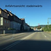 Anfahrtsansicht: stadteinwärts. kurz vor der ARAL-Tankstelle. Ebenfalls ein Traffi-Tower, schwer zu erkennen