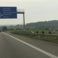 PSS @100 A6 FR Heilbronn vor der Ausfahrt Sinsheim / Mosbach
