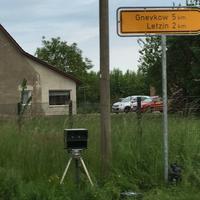 Am Abzweig Letzin (Dorf)
