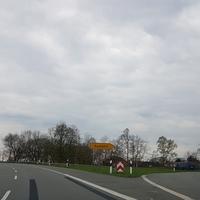 Blitzer, B70 Richtung Lingen, Abfahrt Meppen Esterfeld. Blauer Transporter