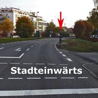 Neu gebaute Stationäre Säule kurz nach der Ampel Stadteinwärts ! --> Siehe Bilder
