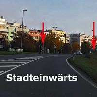 2 neu gebaute Stationäre Säulen kurz nach der Ampel in beiden Richtungen ! --> Siehe Bilder