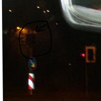 Bild wurde bei Dunkelheit aus dem Auto heraus aufgenommen