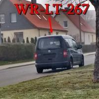 Blitzer in Wernigerode, auf der Theodor-Fontane-Straße. 30 kmh. Grauer VW Caddy (WR-LT-267), geblitzt wurde aus der Frontscheibe hinaus.