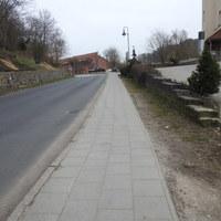 Wir kommen vom der Marktstraße und fahren Richtung Teschendorf