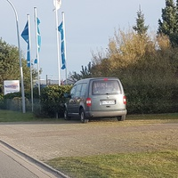 Geblitzt wird aus einem VW Caddy