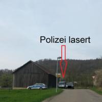 Polizei lasert in Himmlingen
