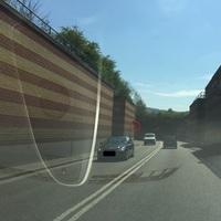 Blitzer ist drehbar, kurz vor der Tunneleinfahrt, Blitzer wird regelmäßig gedreht
