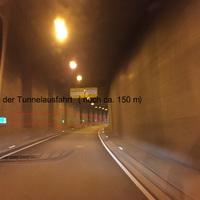 Blitzer steht gleich nach der Tunnelausfahrt, bei Nacht sieht man den Blitzer nur mit Fernlicht. Rtg. Stuttgart