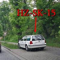 Blitzer am OE B 81 Blankenburg, aus Cattenstedt kommend, rechte Seite geparkter weißer VW Golf 4 Variant (HZ-SK-15). 50 kmh. Richtung stadteinwärts
