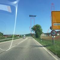 """Anfahrtansicht aus Aalen/Schwäbisch Gmünd/Stuttgart/A7 kommend. Der Laserblitzer misst ab dem letzten """"50er""""-Schild vor dem Blitzer (Schilder in Bilder markiert), beidseitig"""