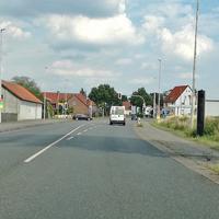Der Feste Blitzer auf der B 1 am OE Einum aus Hildesheim kommend, Richtung Braunschweig