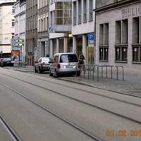 Messung aus dem Caddy, Richtung Marienplatz