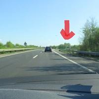 Enforcement Trailer ('Blitzer-Anhänger') an der B9, Dreieck Ludwigshafen. Fahrtrichtung Süd. 80 km/h erlaubt.