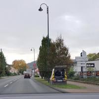 Bad Breisig B9 kurz nach dem Aldi FR Koblenz 50 Km/h. Der Stand vom 13.10.17-16.10.17