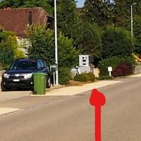 Teilmobile Radaranlage (steht jeweils ca. 7 Tage) Olsberg, Hagmachermatt 8