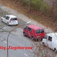 Fahrtrichtung von Moislinger Allee kommend zur Ziegelstrasse fahrend