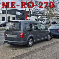 Foto vom neuen grauen VW Caddy Maxi (ME-RO-270), der Stadt Braunschweig (derzeit neuste Version VW Caddy). Mit der Anlage im Kofferraum (Jenoptik TraffiTop). Hier auf der Gifhorner Straße, stadtauswärts rechts in der Parkreihe abgestellt. 50 kmh.