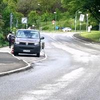 Mobile Überwachung des Einfahrtsverbots in die Hartmeyerstraße aus Richtung des Botanischen Gartens (West --> Ost), nur für Busse erlaubt. Inzwischen zunehmend häufige Überwachungen des Einfahrtsverbots!