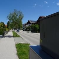 Ruckwartsblick am Messbereich in Fahrtrichtung stadtauswarts,B472,Bichl