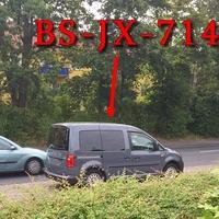 Blitzer in Kralenriede, auf dem Bienroder Weg, stadteinwärts, zwischen dem Bahnübergang (abknickende Vorfahrt) und dem Penny Markt. 30 kmh. Grauer VW Caddy (BS-JX-714).