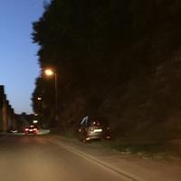 Messfahrzeug der Stadt Idar-Oberstein grauer Caddy mit Poliscan FM-1