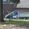 Meßwagen Blauer Mercedes Bus steht auf dem Parkplatz von ABC Vermietung