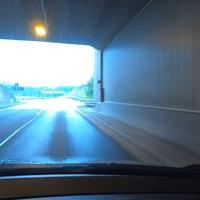 Blitzer auf der HTS in FR Eiserfeld. Die Messstelle liegt hinter dem Ziegenbergtunnel, am Ende einer langen Linkskurve.