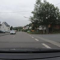 Kontrolle am Ortsausgang Niederholzklau, aus Oberholzklau kommend.