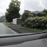 Am Ortseingang Grissenbach, aus Nenkersdorf kommend. Messwagen war ein schwarzer Ford, Messgerät ein ES8.0.