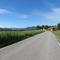 Orsteinfahrt von Elbach kommend in hintegrund ortschild kurz danach geht bergab