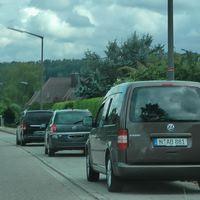 Finale!  Durch die Spiegelung in der Scheibe fast nicht zu erkennen….       BEIDSEITIG! Messung + Aufnahmen des Gegenverkehrs auch vom Fahrersitz aus!