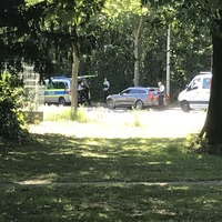 Lasermessung der Polizei. Richtung Schlebusch vom Chempark kommend. Angehalten wurden die Fahrzeige in der Bushaltestelle.