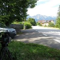 Blick auf messbereich Kamera richtung Ortsmitte / Bichl