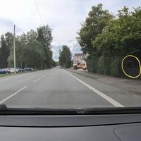 B508, FR Kreuztal. Kurz hinter der Spedition Menn.