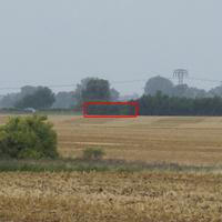 Geschwindigkeitsmeßstelle auf der Bundesstraße B96, Bereich AS Abtshagen, Abschnitt 511, km 1,35 bis km 2,5;  Einseitensensor ES 8.0 + Digitale Fotografieeinrichtung FE 8.0 mit Blitzlicht