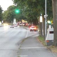 Anfahransicht von der Possehlbrücke stadtauswärts Rtg. Berliner Kreisel fahrend ...