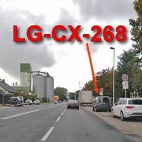 Auf der Hansestraße, stadtauswärts. Bei der Spedition Schnellecke, auf der rechten Seite auf dem Parkstreifen. Richtung A 2 / GF-Walle. Grauer VW Caddy Maxi mal wieder anderes Kennzeichen (LG-CX-268). 50 kmh.