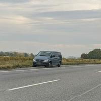 Mobiler Blitzer aus Mercedes-Benz Vito, B42 Fahrtrichtung Wiesbaden