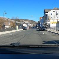 Auf der Siegtalstraße in Niederschelden, FR Siegen.