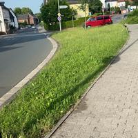 Die Lichtschrankenmessung mit dem bekannten roten T4 VW Bus des Ordnungsamt der Stadt Wetzlar
